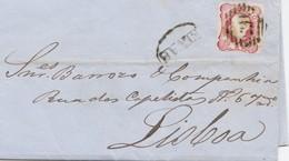 Portugal: 1862: Elvas Nach Lisboa Mit Text - Madère