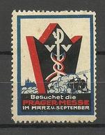 TSCHECHOSLOWAKEI Czechoslovakia Vignette Reklamemarke Prager Messe Foire Praha * - Czechoslovakia
