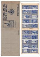 Carnet De Vignettes Nd De La Garde Marseille - Commemorative Labels