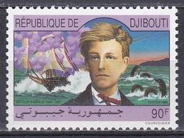 Dschibuti Djibouti 1991 Kunst Arts Literatur Literature Dichter Poet Schriftsteller Schiffe Arthur Rimbaud, Mi. 562 ** - Dschibuti (1977-...)