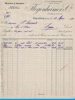 1922 RUBANS & SOIERIES VELOURS & PELUCHES FLEGENHEIMER & Cie CORRATERIE 10.12 A14 GENEVE SUISSE - Suisse