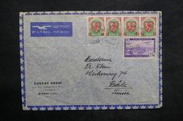 ALGÉRIE - Enveloppe Commerciale De Briska Pour La Suisse, Affranchissement Plaisant - L 35868 - Storia Postale