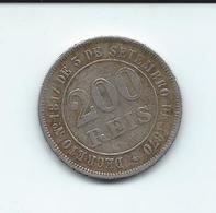 Piece De 200 Réis  - Imperio Do Brazil  1877 - Decreto N: 1817 De 3 De Setembro De 1870 - Brasilien