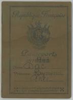 Passeport X 3 Raymond Isaac , Alias Raymond Dac , Artiste Chorégraphique Ayant Beaucoup Voyagé . Judaïca . Occupation . - Alte Papiere