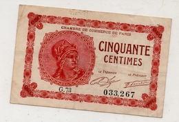 Paris : Chambre De Commerce : 50 Centimes. - Chambre De Commerce