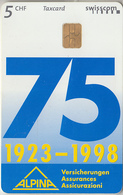 SWITZERLAND - PHONE CARD - TAXCARD SUISSE * CHIP  ***  ALPINA - Ass  *** - Schweiz