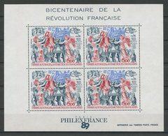 TAAF 1989 Bloc N° 1 ** ( PA 108 ) Neuf MNH Superbe C 12,50 € Bateaux Sailboat Révolution Française Oiseaux Manchot - Blocs-feuillets