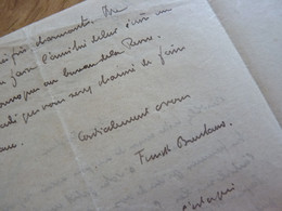 Franz FUNCK BRENTANO (1862-1947) Historien. BIBLIOTHEQUE Arsenal. - AUTOGRAPHE - Autographs