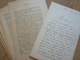 Théodore Gosselin Dit LENOTRE (1855-1935) Historien. Académie Française - AUTOGRAPHE + Imprimé - Autographs