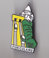 PIN'S THEME TRANSPORT FUNICULAIRE  MONTMARTRE  A PARIS - Transports