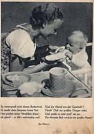 Mutter Mit Kind Und Butterbrot Und Spruch 1942 Aus Neues Volk - Amtes Der NSDAP - Gruppen Von Kindern Und Familien
