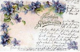 Herzlichen Glückwunsch 1900 Veilchen - Feiern & Feste