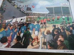 Affiche Scolaire Rossignol  - Un Match De Football Et Travaux D'Automne Au Dos - Afiches
