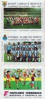 Calendrier Original Sport Lisboa E Benefica - Campeao Nacional 1986-1987 - Football Portugais - Papelaria Fernandes - Calendriers