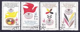 Tchécoslovaquie 1962 Mi 1341-4 (Yv PA 53-6), Obliteré, - Used Stamps