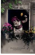 Herzlichen Glückwunsch Zum Namenstage Ca 1920 Koloriert - Feiern & Feste