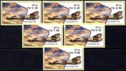 ISRAEL 2019 - Israeli Air Force Fighter Jets - DASSAULT MIRAGE IIICJ - 6 Haifa ATM # 714 Labels - MNH - Militaria