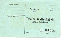 Postkarte Faltkarte Tiroler Waffenfabrik Innsbruck Ca 1915 Bestellkarte - Ansichtskarten