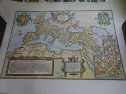 Affiche  -  Carte De Romani Imper II Imago-  Carte De L'Empire Romain - Afiches