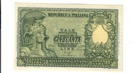 50 Lire Italia Elmata 31 12 1951 Bolaffi Q.fds LOTTO 2637 - [ 2] 1946-… : Repubblica