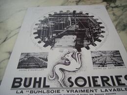ANCIENNE PUBLICITE BUHL SOIERIE 1930 - Afiches