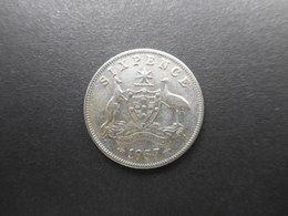 Australia 6 Pence 1957 Elizabeth II - Moneda Pre-decimale (1910-1965)