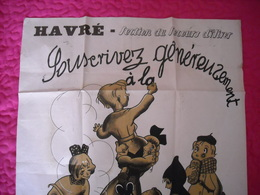 Havré ' Secours D'hiver '  Affiche Dessinée Par Marcel Gillis 1940 - Afiches