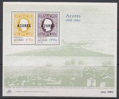 Azores 1980 Postal Independance M/s ** Mnh (43581) - Azoren