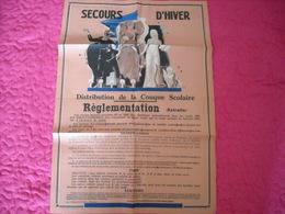 Mons ' Secours D'hiver '  Distribution De Couques Scolaires (règlementation) - Afiches