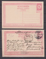 Türkei Ganzsachen MiNo. P 37 ** Und P 37 Bedarf Saloniki 1911 Nach Deutschland - 1858-1921 Empire Ottoman