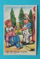 Carte Postale Enfants Pompiste Photochrom N°257 - Groupes D'enfants & Familles