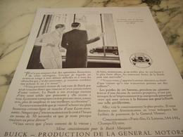 ANCIENNE PUBLICITE VOITURE BUICK CET HOMME LA SIGNATURE 1930 - Afiches
