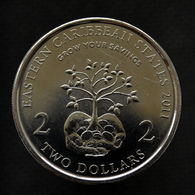 East Caribbean States 2 Dollars (10th Anniversary Of Financial Information Month) 2011. Coin UNC Km87 - Ostkaribischer Staaten