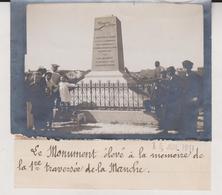 LE MONUMENT ELEVE A LA MEMOIRE DE LA 1RE TRAVERSÉE DE LA MANCHE BLERIOT-13*9CM Maurice-Louis BRANGER PARÍS  (1874-1950) - Aviación