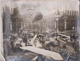 1911 ETAT SEE SCAN SALON AÉRONAUTIQUE PAR M FALLIERES -24*18CM Maurice-Louis BRANGER PARÍS  (1874-1950) - Aviación