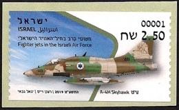 ISRAEL 2019 - Israeli Air Force Fighter Jets - A-4H SKYHAWK - Philatelic Bureau ATM # 001 Label - MNH - Militaria