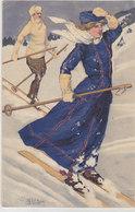 Skifahrer - Signiert      (90720) - Otros Ilustradores