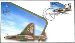 ISRAEL 2019 - Israeli Air Force Fighter Jets - A-4H SKYHAWK - Philatelic Bureau ATM # 001 Label - FDC - Militaria
