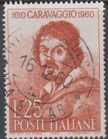 Italy Republic S 897 1960 Caravaggio,used - 1946-60: Afgestempeld