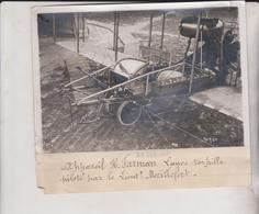 APPAREIL H FARMAN LANCE TORPILLE PILOTE MAILLEFERT18*13CM Maurice-Louis BRANGER PARÍS (1874-1950) - Aviación