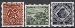 LIECHTENSTEIN - Michel - 1953 - Nr 319/21 - MH* - Liechtenstein