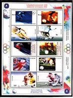 Olympics 1998 - Ice Hockey - Soccer - GERMANY - Sheet Vignette MNH - Hiver 1998: Nagano