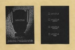 Carte Parfumée Perfume Card INVICTUS * PACO RABANNE * R/V * UK - Modernes (à Partir De 1961)