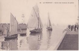 CPA - 29. LE TREPORT - Sortie Des Bateaux De Pêche - Le Treport