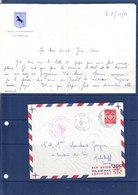 MADAGASCAR TIMBRE DE FRANCHISE MILITAIRE DE FRANCE OBL DIEGO SUAREZ AVISO LAPEROUSE AVEC PAPIER A EN TETE DU BATEAU - Covers & Documents