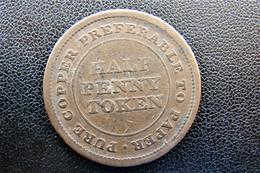 1812 Trade Navigation Half Penny Pure Copper - Autres