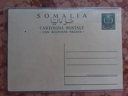 SOMALIA AFIS - Cartolina Postale Con Risposta Pagata Nuova + Spese Postali - Somalia (AFIS)