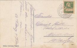 """Bahnpoststempel """"Einsiedeln-Wädenswil"""" - Auf Ansichtskarte Von 1923     (90720) - Ferrocarril"""