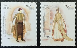 Lebanon NEW 2019 MNH Set - Euromed Joint Issue, Traditional Costumes - Lebanon