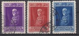 LIECHTENSTEIN - Michel - 1933 - Nr 122/24 - Gest/Obl/Us - Liechtenstein
